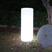 Luminous White Column mains powered - Ø35 x H70 cm