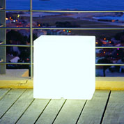 Luminous White Cube - mains powered - 40x40x40 cm