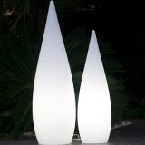 Luminous White Cypress mains powered - Ø36 x H.120