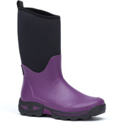 Ankle Boot with self-cleaning sole Purple