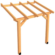 Lean-to Wood Pergola 2 x 1.5 m