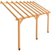 Lean-to Wood Pergola 4.5 x 2.75 m