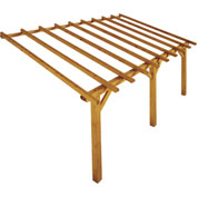 Lean-to Wood Pergola 5 x 3 m PRADO
