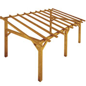 Lean-to Wood Pergola 5 x 3 m SHERWOOD
