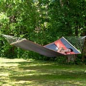 Hammock with Spreader Bar 200 x 120cm - Dream Grey