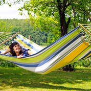 Hammock with Bars 200x100cm -Tonga Kolibri-Amazona