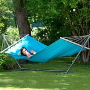 Hammock with Spreader Bar 220 x 120 cm- Miami Aqua