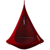 Suspended hammock - Single Cacoon - Red