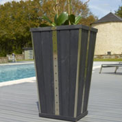 Design Flared Wooden Planter - Anthracite