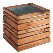 Wood and Metal Planter LIGN Z 60