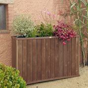 Design High Rectangular Wooden Planter