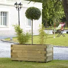 Rectangular Wooden Planter 105