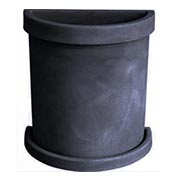Semi-Circle Flower Pot - Anthracite