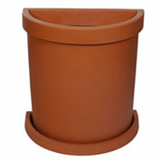 Semi-Circle Flower Pot - Terracota