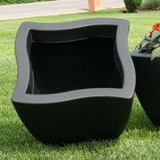 Planter DORADO - square- 40 x 40 cm - Black