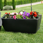 Planter DORADO - rectangular - 80 x 40 cm - Black
