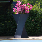 Contemporary Pot - 55 x 55 x H100 cm - Anthracite