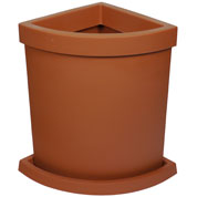 Quadrant-Circle Flower Pot - Terracota