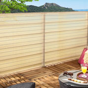 Woven privacy screen for Balcony - 1 x 5 m - Beige