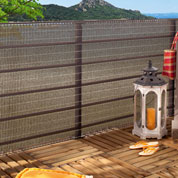 Woven privacy screen for Balcony - 1 x 5 m - Brown