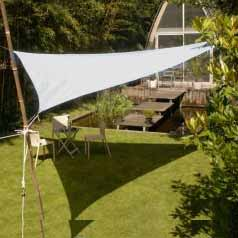 Triangular waterproof sun canopy - white