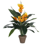Artificial Plant - Yellow Canna - MICA