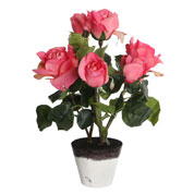 Artificial Plant - Pink Rose - MICA