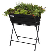 Raised Flowers-Vegetable Bed on Stand - Black