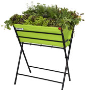 Raised Flowers-Vegetable Bed on Stand - Green