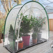 Special greenhouse for balconies and patios