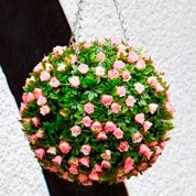Hanging Basket Artificial Plant - Topiary Ball