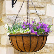 Hanging basket with coco liner - D.30 cm