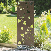 Decorative Trellis in Metal - Leaves - 0,6x1,5m