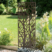 Decorative Trellis in Metal - Forest - 0,6 x 1,5 m