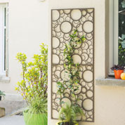 Decorative Trellis in Metal - Circle - 0,6 x 1,5 m